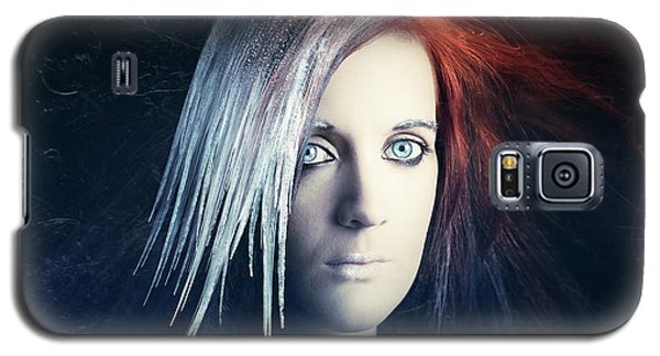 Icy Galaxy S5 Case - Fire And Ice Portrait by Johan Swanepoel