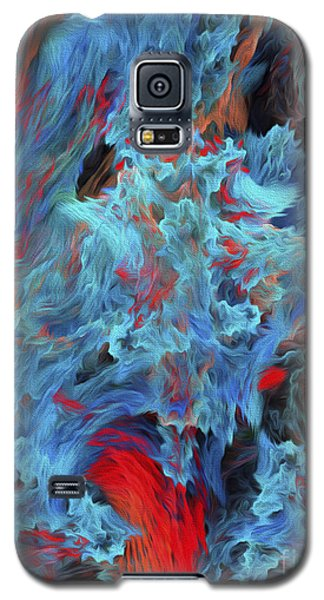 Galaxy S5 Case featuring the digital art Fire And Water Abstract by Andee Design