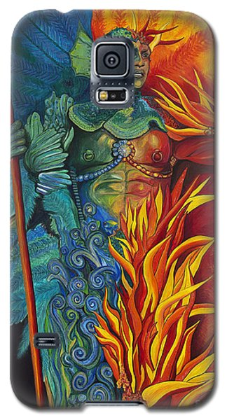 Fire And Water Carnival Figure Galaxy S5 Case