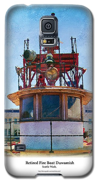 Galaxy S5 Case featuring the painting Fire Boat by Kenneth De Tore