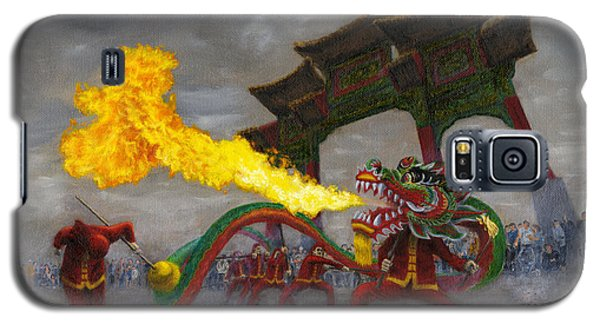 Galaxy S5 Case featuring the painting Fire-breathing Dragon Dancer by Jason Marsh