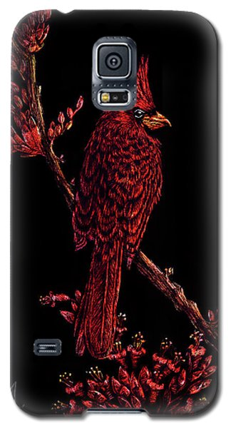 Fire Cardinal Galaxy S5 Case