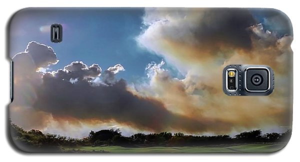 Fire Clouds Over A Golf Course Galaxy S5 Case