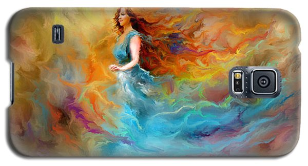 Galaxy S5 Case featuring the digital art Fire Dancer by Patricia Lintner