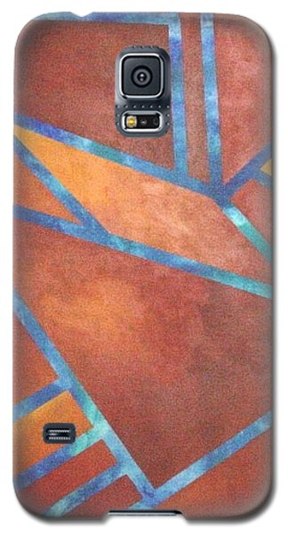 Galaxy S5 Case featuring the painting Fire From The Sky by Bernard Goodman
