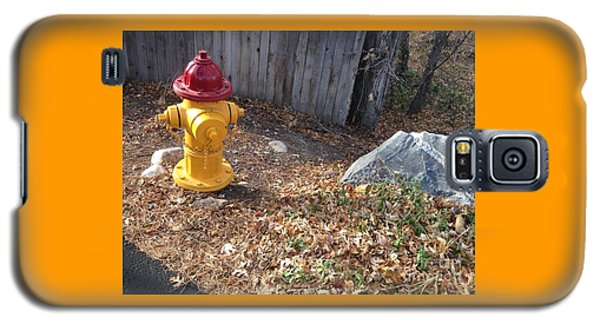 Fire Hydrant Checking Its Facerock Galaxy S5 Case