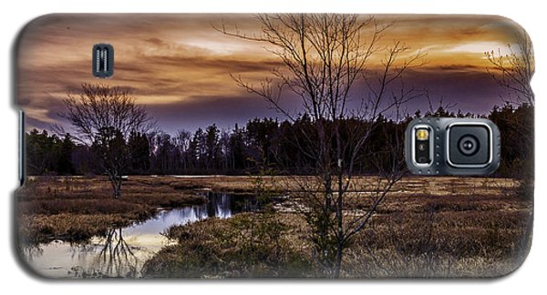 Fire In The Pine Lands Sky Galaxy S5 Case