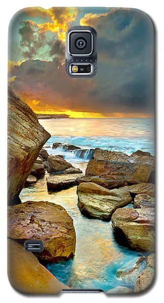 Sunset Galaxy S5 Case - Fire In The Sky by Az Jackson
