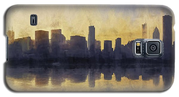 Fire In The Sky Chicago At Sunset Galaxy S5 Case by Scott Norris