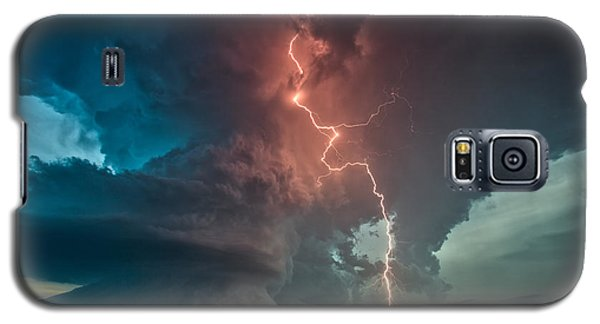 Galaxy S5 Case featuring the photograph Fire In The Sky. by James Menzies