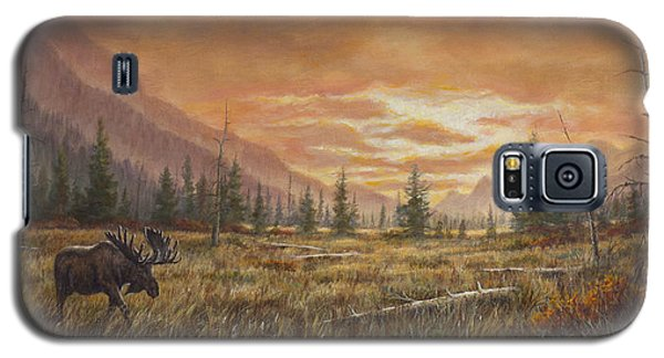 Galaxy S5 Case featuring the painting Fire In The Sky by Kim Lockman