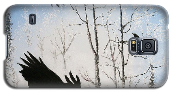 Galaxy S5 Case featuring the painting Fire In The Sky by Stanza Widen