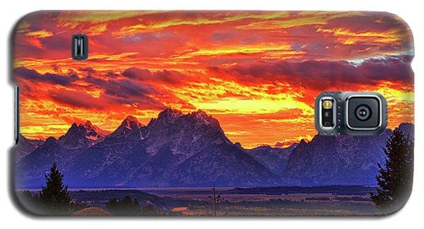 Fire In The Teton Sky Galaxy S5 Case