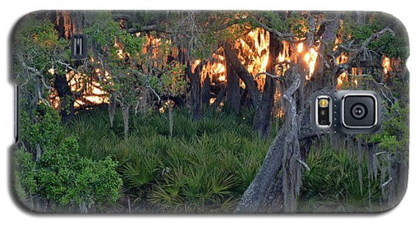 Galaxy S5 Case featuring the photograph Fire Light Jekyll Island 02 by Bruce Gourley
