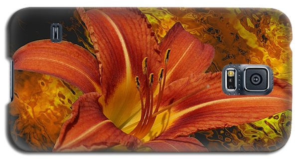 Galaxy S5 Case featuring the photograph Fire Lilly by Rick Friedle