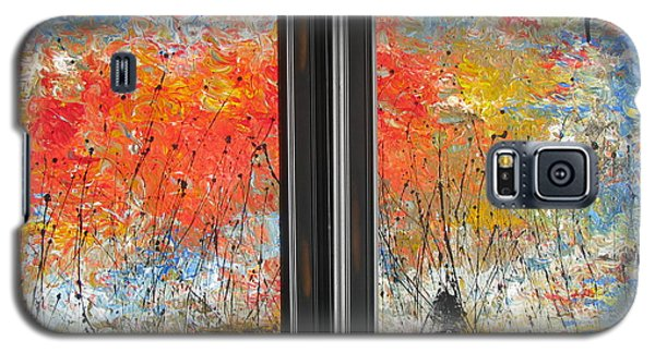 Galaxy S5 Case featuring the painting Fire On The Prairie by Jacqueline Athmann