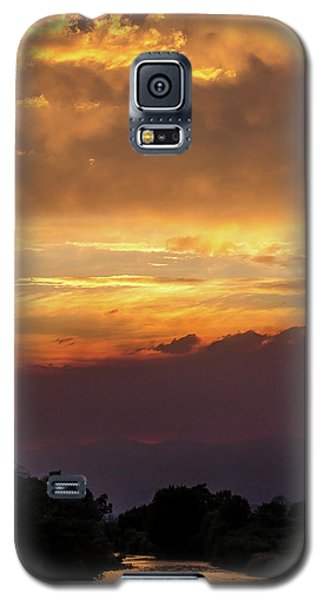Fire Sky At Sunset Galaxy S5 Case