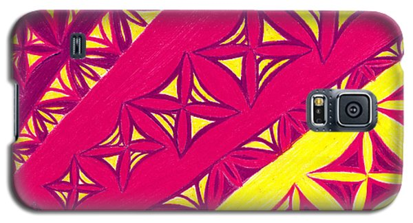 Galaxy S5 Case featuring the drawing Fire Velvet Lace by Kim Sy Ok