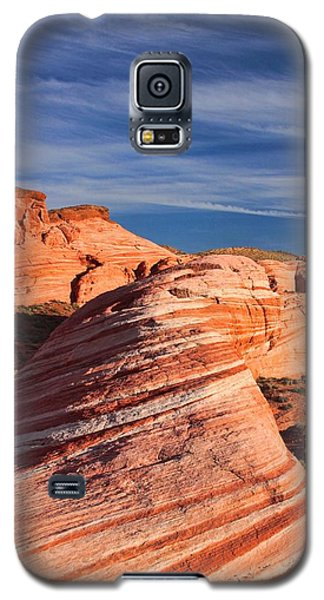 Fire Wave Galaxy S5 Case by Tammy Espino