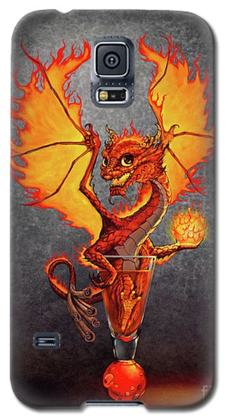 Galaxy S5 Case featuring the digital art Fireball Dragon by Stanley Morrison