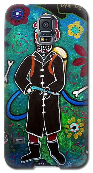 Firefighter Day Of The Dead Galaxy S5 Case by Pristine Cartera Turkus