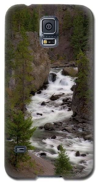 Galaxy S5 Case featuring the photograph Firehole Canyon by Steve Stuller