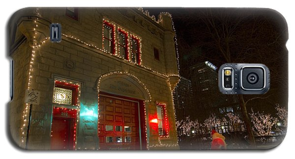 Firehouse In Xmas Lights Galaxy S5 Case