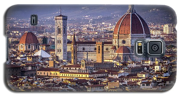 Galaxy S5 Case featuring the photograph Firenze E Il Duomo by Sonny Marcyan