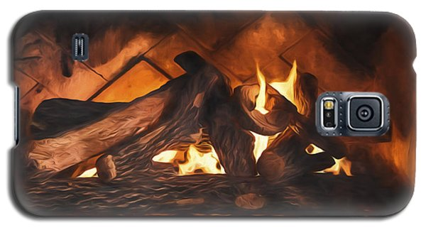 Fireplace  ... Galaxy S5 Case by Chuck Caramella