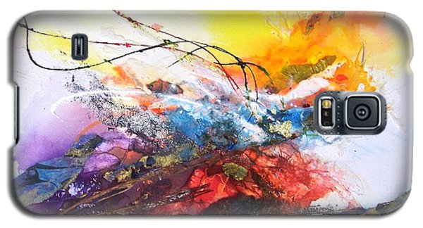 Galaxy S5 Case featuring the painting Firestorm by Helen Harris