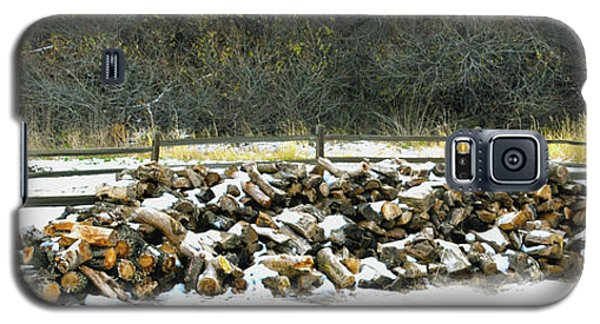 Galaxy S5 Case featuring the photograph Firewood In The Snow At Fort Tejon by Floyd Snyder