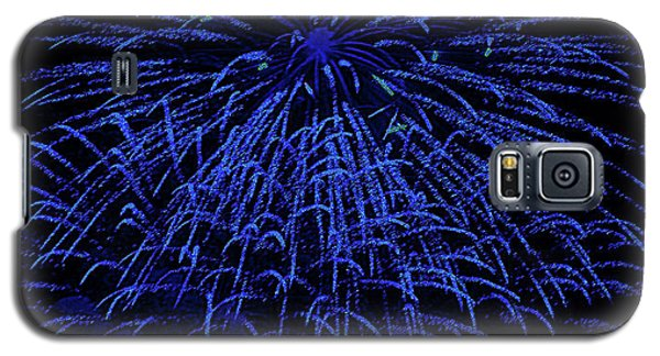 Firework Blues Galaxy S5 Case by DigiArt Diaries by Vicky B Fuller