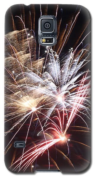 Fireworks Abstract 30 2015 Galaxy S5 Case by Mary Bedy