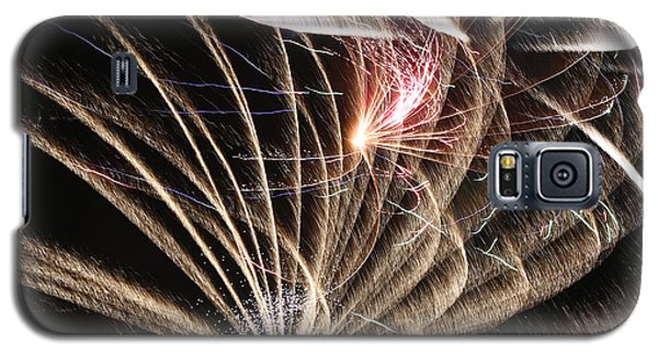 Fireworks Abstract 35 2015 Galaxy S5 Case by Mary Bedy