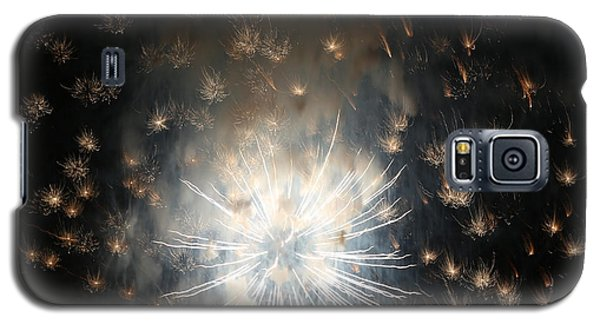 Fireworks Abstract 40 2015 Galaxy S5 Case by Mary Bedy