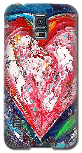 Galaxy S5 Case featuring the painting Fireworks by Diana Bursztein