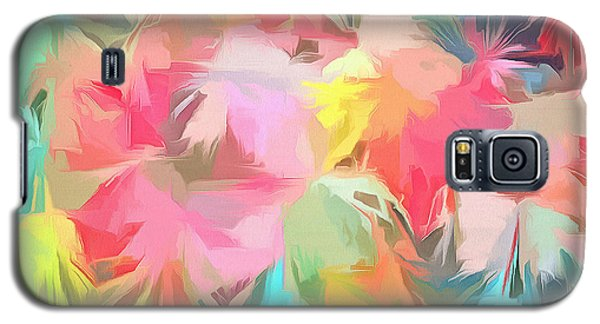 Fireworks Floral Abstract Square Galaxy S5 Case by Edward Fielding