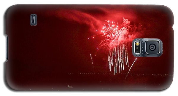 Fireworks In Red And White Galaxy S5 Case