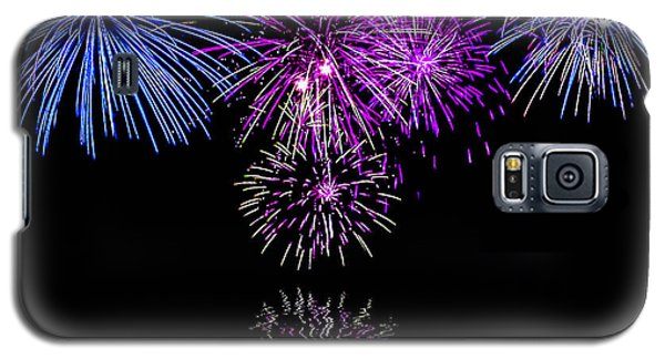 Galaxy S5 Case featuring the photograph Fireworks Over Open Water 2 by Naomi Burgess