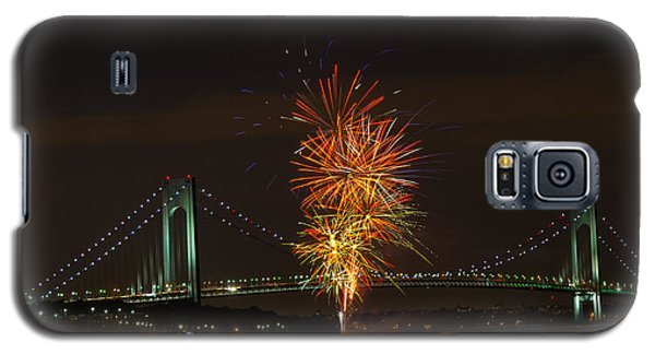Fireworks Over The Verrazano Narrows Bridge Galaxy S5 Case