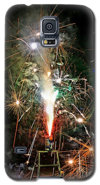 Galaxy S5 Case featuring the photograph Fireworks by Vivian Krug Cotton