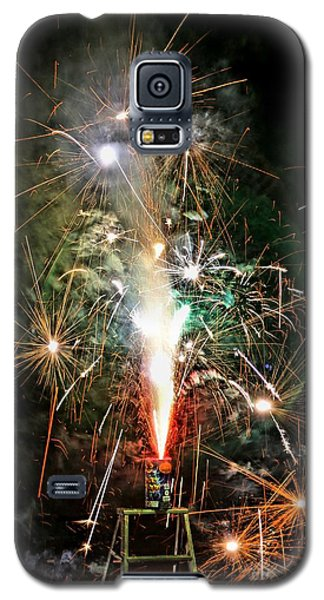 Fireworks Galaxy S5 Case by Vivian Krug Cotton