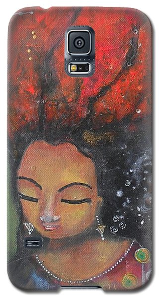 Firey Hair Girl Galaxy S5 Case
