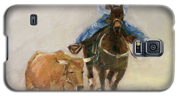 First Bulldogger Bill Picket Oil Painting By Kmcelwaine  Galaxy S5 Case