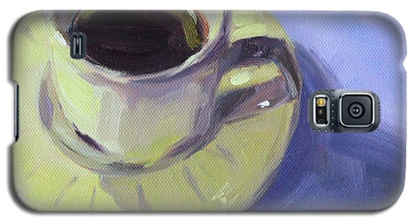 Galaxy S5 Case featuring the painting First Cup by Nancy Merkle