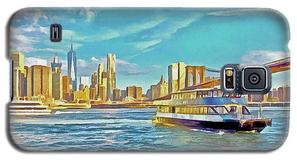 Galaxy S5 Case featuring the digital art First East River Ferry Of The Day by Digital Photographic Arts