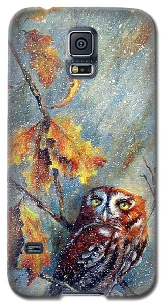 Galaxy S5 Case featuring the painting First Flurries by Mary McCullah