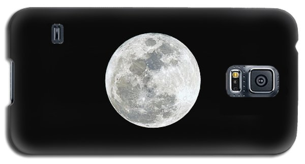 Galaxy S5 Case featuring the photograph First Full Moon Of 2016 by Eddie Yerkish