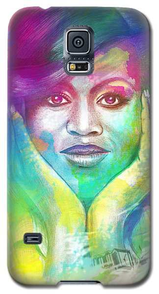 Galaxy S5 Case featuring the mixed media First Lady Obama by AC Williams
