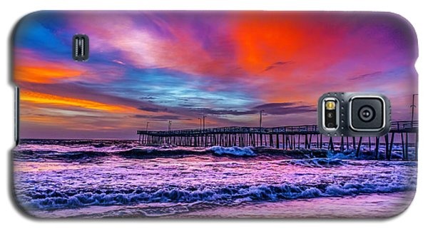 Galaxy S5 Case featuring the photograph First Light On The Beach by Nick Zelinsky